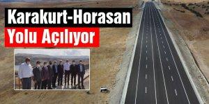 Karakurt-Horasan Yolu Açılıyor