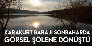 Karakurt Barajı Sonbaharda Görsel Şölene Dönüştü