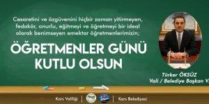 Öksüz'ün Öğretmenler Günü Mesajı