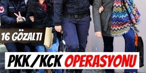 PKK/KCK Operasyonu: 16 Gözaltı