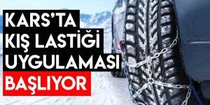 Kars'ta Kış Lastiği Uygulaması Başlıyor