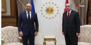 Cumhurbaşkanı Erdoğan, Ukrayna Başbakanı'nı kabul etti