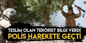 Teslim Olan Terörist Bilgi Verdi, Polis Harekete Geçti