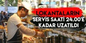 Lokantaların Servis Saati 24.00'e Karar Uzatıldı