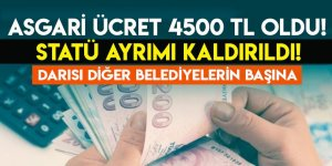 Asgari ücret 4 bin 500 lira oldu