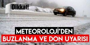 Karslılar Dikkat Meteoroloji'den Buzlanma ve Don Uyarısı