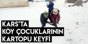 Kars'ta Köy Çocuklarının Kartopu Keyfi