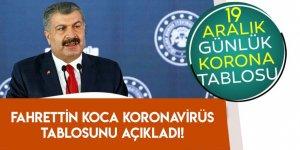 19 Aralık Türkiye'de koronavirüs tablosu