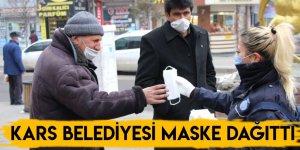 Kars Belediyesi Maske Dağıttı