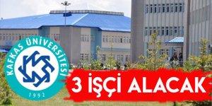 Kafkas Üniversitesi 3 İşçi Alacak