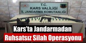 Kars'ta Jandarmadan Ruhsatsız Silah Operasyonu