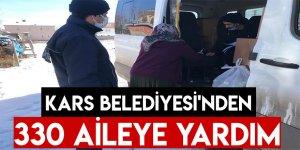 Kars Belediyesi'nden 330 Aileye Yardım