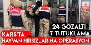 Kars'ta Hayvan Hırsızlarına Operasyon 24 Gözaltı 7 Tutuklama