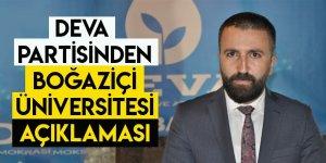 DEVA Partisinden, Boğaziçi Üniversitesi Açıklaması