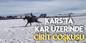 Kars'ta Kar Üzerinde Cirit Coşkusu