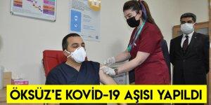 Vali Türker Öksüz'e Kovid-19 Aşısı Yapıldı