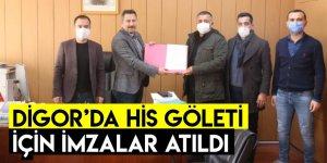 Digor'da HİS Göleti İçin İmzalar Atıldı
