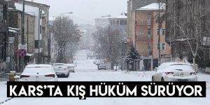 Kars'ta Kış Hüküm Sürüyor