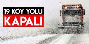 Kars'ta 19 Köy Yolu Ulaşıma Kapalı