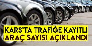 Kars'ta Trafiğe Kayıtlı Araç Sayısı Açıklandı