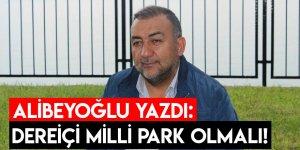 Alibeyoğlu Yazdı: Dereiçi Milli Park Olmalı!
