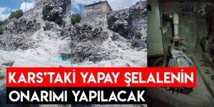 Kars'taki Yapay Şelalenin Onarımı Yapılacak