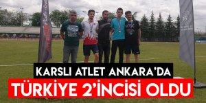 Karslı Atlet Ankara'da Türkiye 2'incisi Oldu