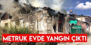 Sarıkamış'ta Metruk Evde Çıkan Yangın Çıktı