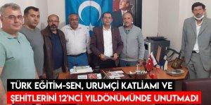 Türk Eğitim-Sen, Urumçi Katliamı ve Şehitlerini 12'nci Yıldönümünde Unutmadı