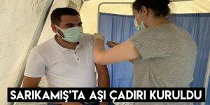 Sarıkamış'ta Aşı Çadırı Kuruldu