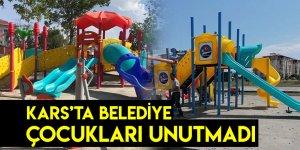 Kars'ta Belediye Çocukları Unutmadı