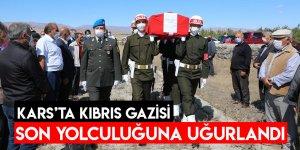 Kars'ta Kıbrıs Gazisi Son Yolculuğuna Uğurlandı
