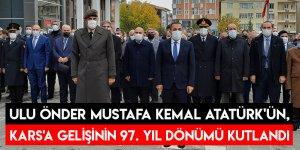 Ulu Önder Mustafa Kemal Atatürk'ün, Kars'a Gelişinin 97. Yıl Dönümü Kutlandı