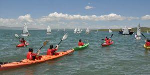 Çıldır Gölü tarihinde ilk kez yelken yarışlarına ev sahipliği yaptı
