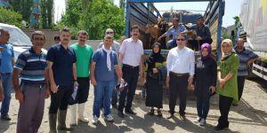 Kağızman'da genç çiftçilere düve dağıtıldı