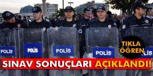 Polis memuru alımı sınavının sonuçları açıklandı