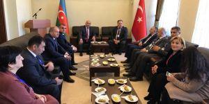 Asimder, Azerbaycan Kars Başkonsolosu Guliyev'i ziyaret etti
