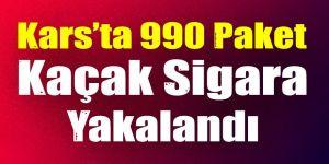 Kars'ta 990 paket kaçak sigara yakalandı