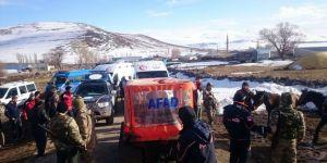 Kars'ta tipiye yakalanan 8 kişi kurtarıldı