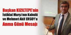 """Başkan KIZILTEPE'nın """"İstiklal Marşı'nın Kabulü ve Mehmet Akif ERSOY'u Anma Günü """" Mesajı"""