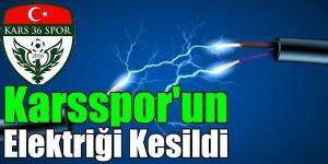 Karsspor'un Elektriği Kesildi