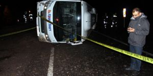 Ardahan'da Otobüs Kazası 1 Yaralı