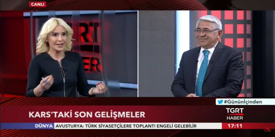 Kars Belediye Başkanı Murtaza Karaçanta, TGRT Haber'de canlı yayın konuğu oldu